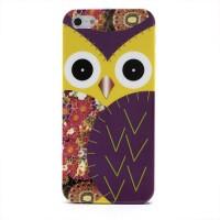 Geel met paars gekleurde hard case voor iPhone 5 en 5S