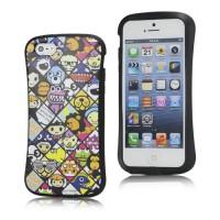 Kleurrijke cartoon gel case voor iPhone 5 en 5S