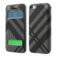Grijs / Zwarte book case voor iPhone 5C