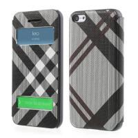 Zwart / licht grijze book case voor iPhone 5C
