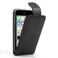 Zwarte flipcase met magnetische sluiting voor iPhone 5C