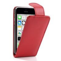 Rode flipcase met magnetische sluiting voor iPhone 5C