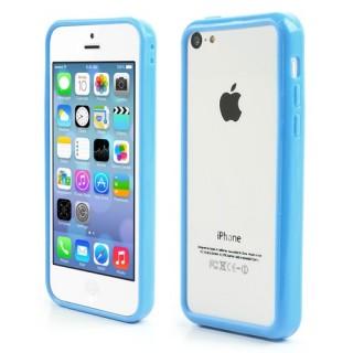 Licht blauwe bumpercase voor iPhone 5C
