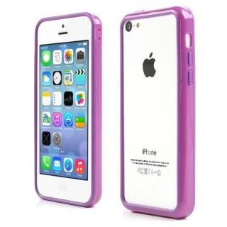 Paarse bumpercase voor iPhone 5C