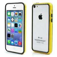 Geel / Zwarte bumpercase voor iPhone 5C