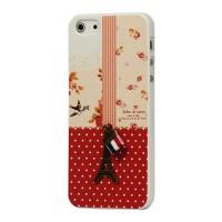 Leuke parijs hard case met frans vlaggetje voor iPhone 5 en 5S